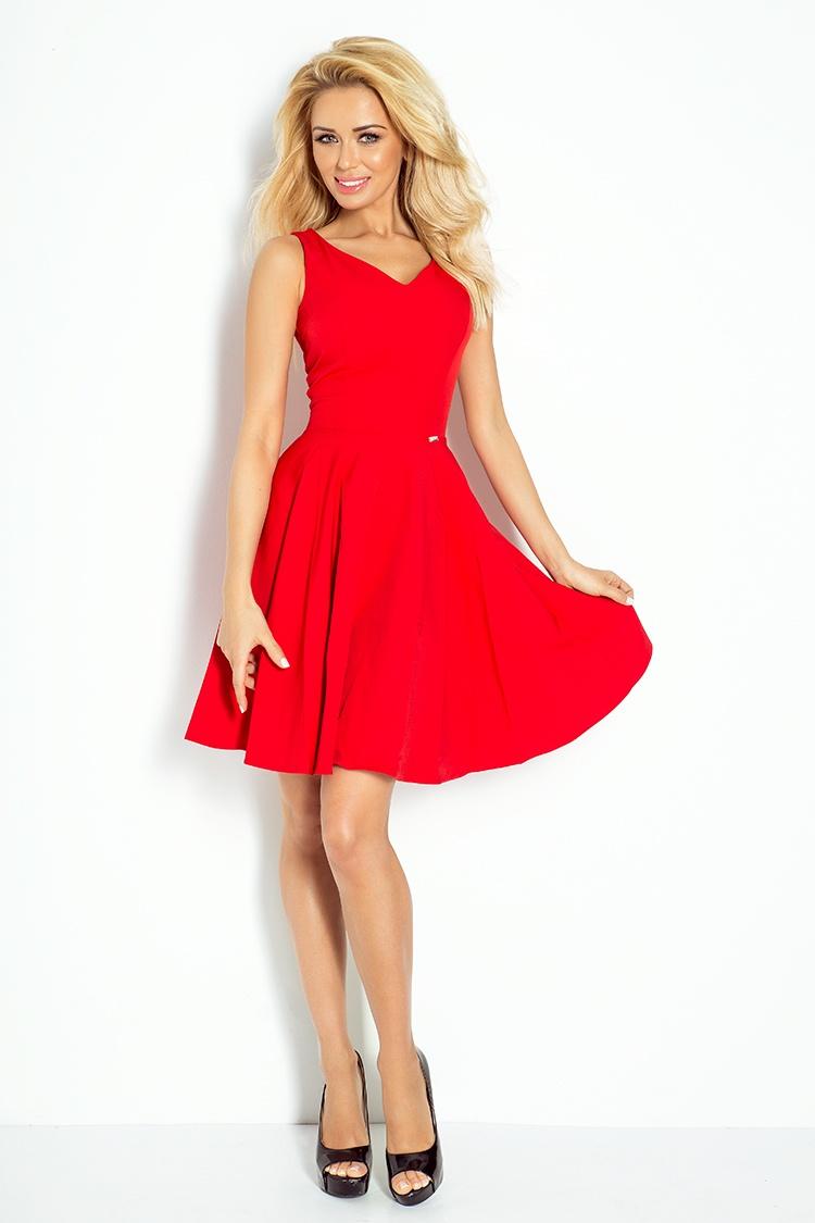 Dress circle - heart-shaped neckline - cervene 114-3    Numoco CZ 3e627efde3