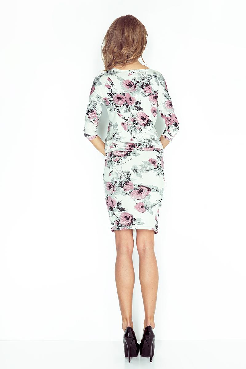 13-72 Sportovní šaty - květy - černá + růžová    Numoco CZ 4c2dae8ec9