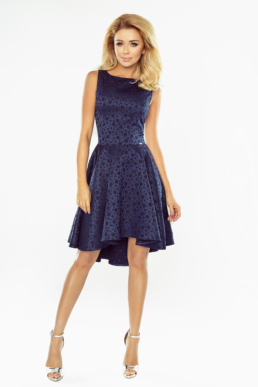 Exclusive asymetrické šaty - tmavé modra 175-3    Numoco CZ f92a80d082